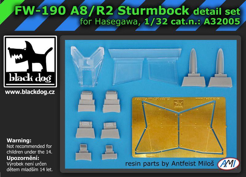 A32005 1/32 Focke-Wulf FW-190 A8/R2 Sturmbock Blackdog