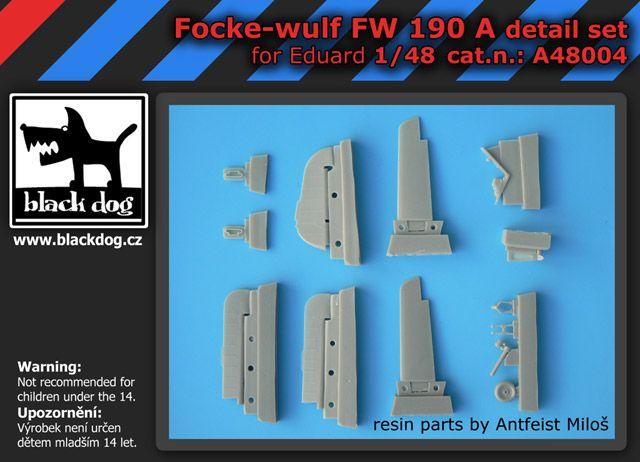 A48004 1/48 Focke-Wulf FW 190 A detail set Blackdog