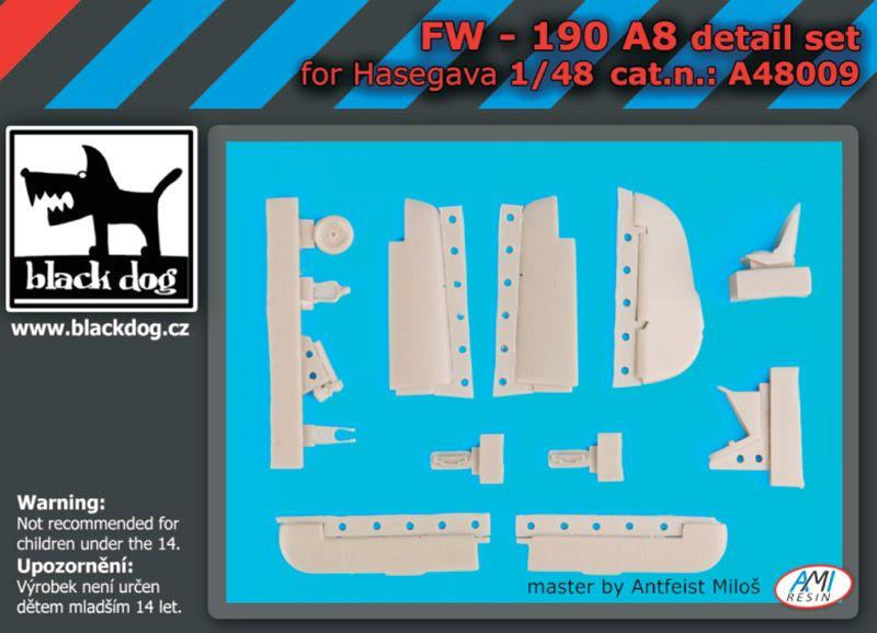 A48009 1/48 Fw-190 A8 detail set Blackdog