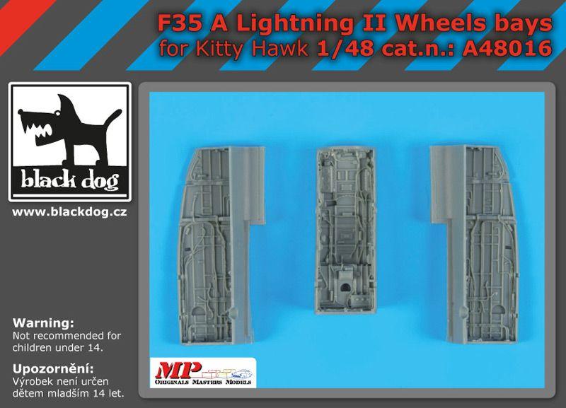 A48016 1/48 F 35 A Lighting II wheels bays Blackdog