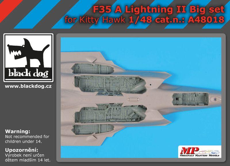 A48018 1/48 F 35 A Lighting II big accessories set Blackdog