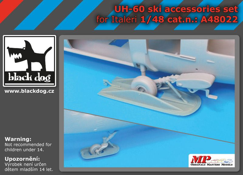 A48022 1/48 UH -60 ski accessories set Blackdog