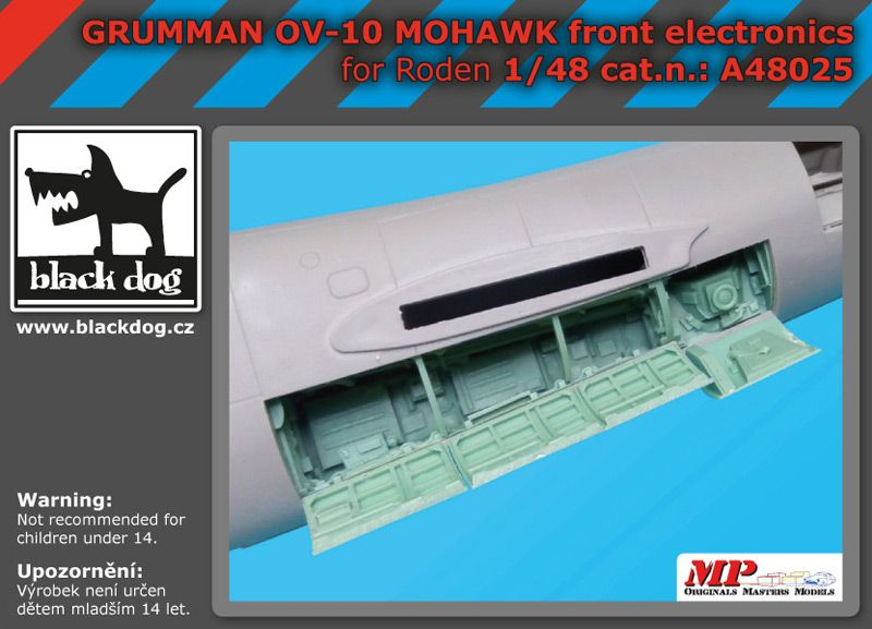 A48025 1/48 Grumman OV 1D Mohawk front electronic Blackdog