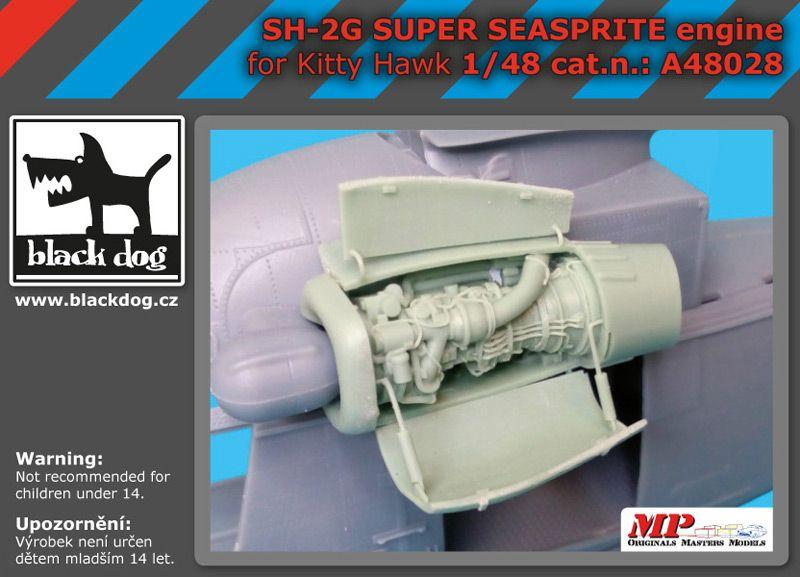 A48028 1/48 SH-2 G Super Seasprite engine Blackdog