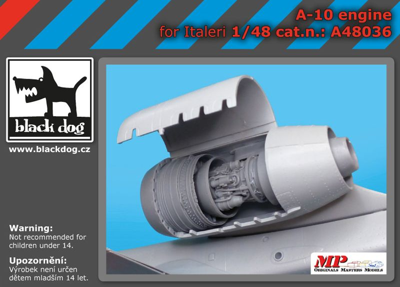 A48036 1/48 A-10 engine Blackdog