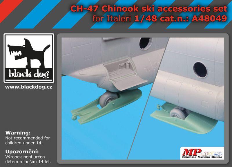 A48049 1/48 Ch-47 Chinook ski accessories set Blackdog