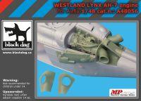 A48056 1/48 Westland Lynx AH-7 engine Blackdog