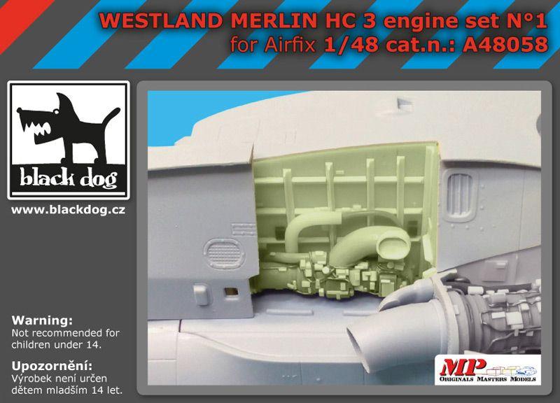 A48058 1/48 Westland Merlin HC-3 engin N°1 Blackdog