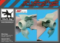 A48064 1/48 OV-1 D Mohawk 2 engines