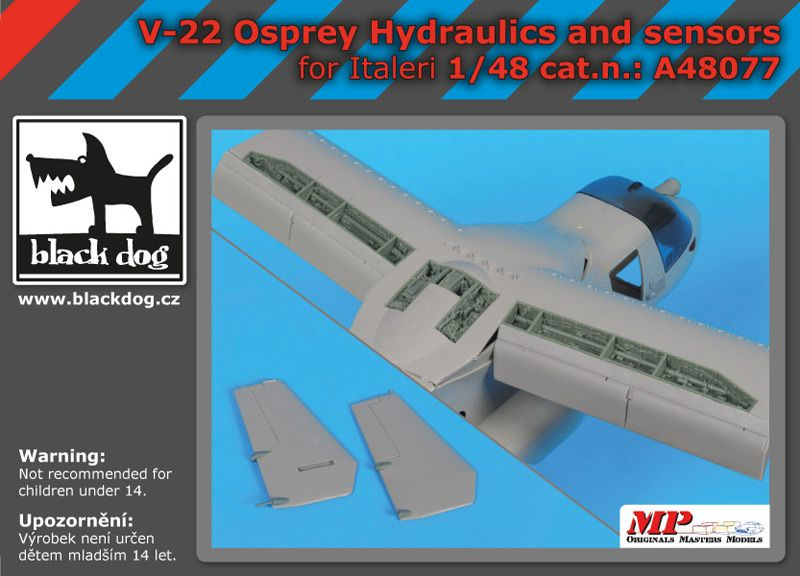 A48077 1/48 V-22 Osprey Hydraulics and sensors Blackdog