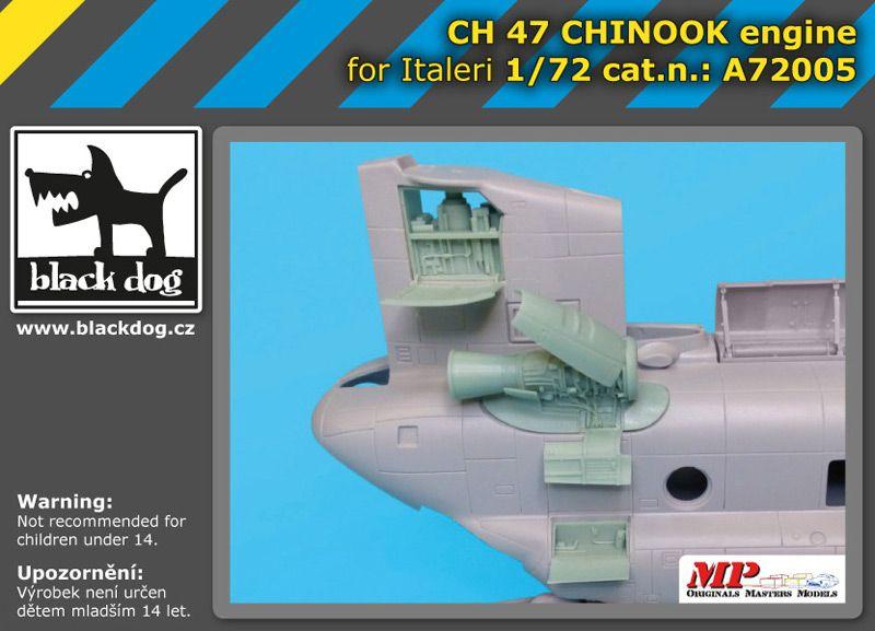A7205 1/72 Ch-47 Chinnok engine Blackdog