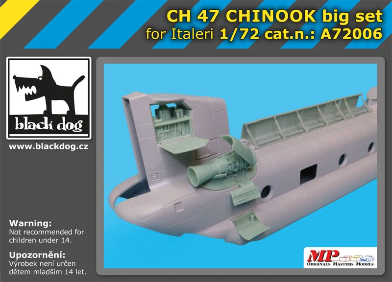 A7206 1/72 Ch -47 Chinnok big set Blackdog