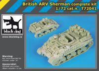 T72041 1/72 British ARV Sherman Blackdog