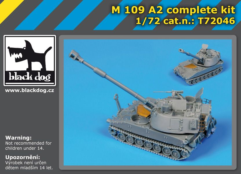 T72046 1/72M109 A2 complete kit Blackdog