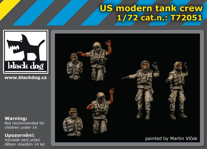 T72051 1/72 Us modern tank crew Blackdog