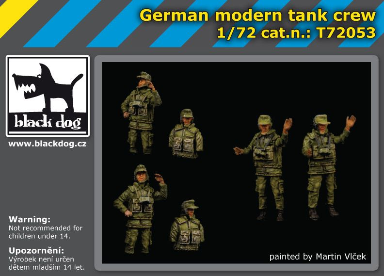 T72053 1/72 German modern tank crew Blackdog