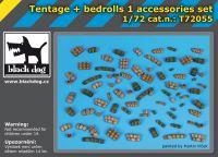 T72055 1/72 Tentage plus bedrols 1 accessories set Blackdog