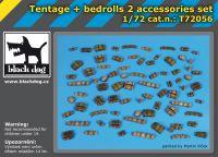 T72056 1/72 Tentage plus bedrols 2 accessories set