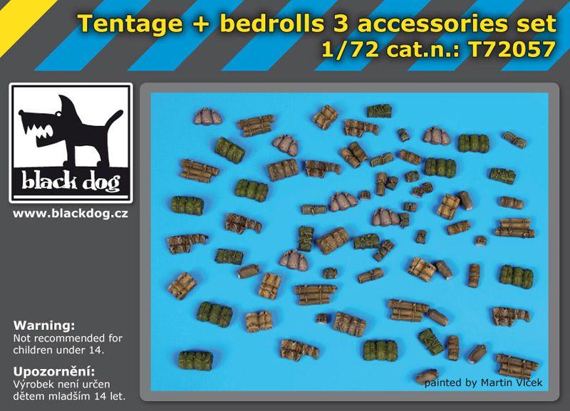 T72057 1/72 Tentage plus bedrols 3 accessories set Blackdog