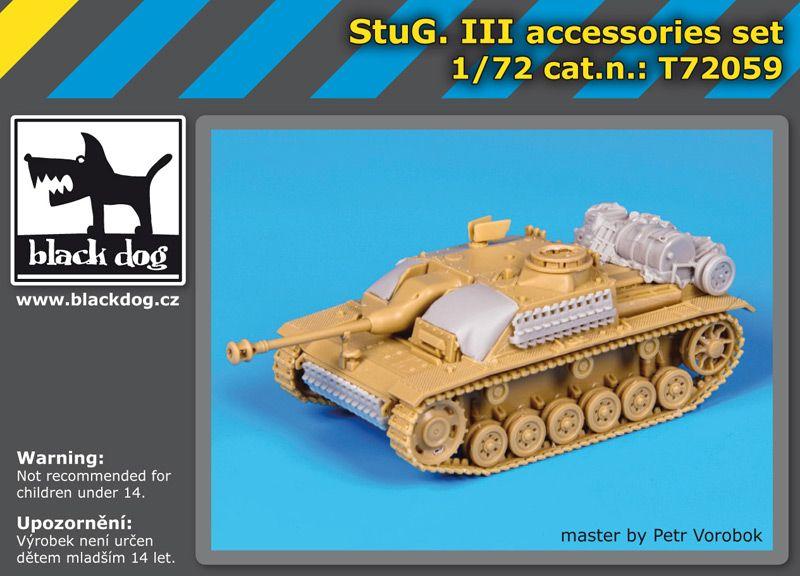 T72059 1/72 Stug III accessories set Blackdog