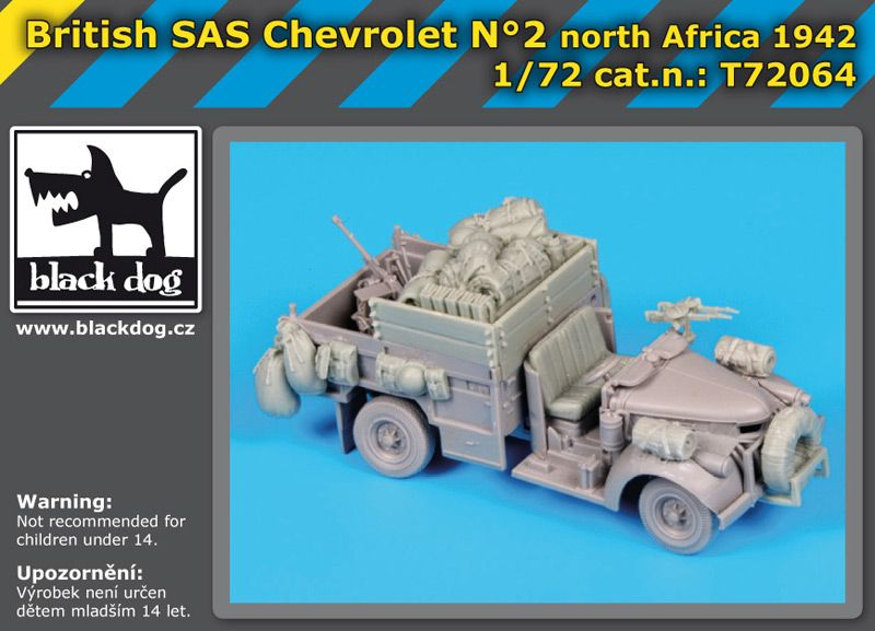 T72064 1/72 British SAS chevrolet N Blackdog