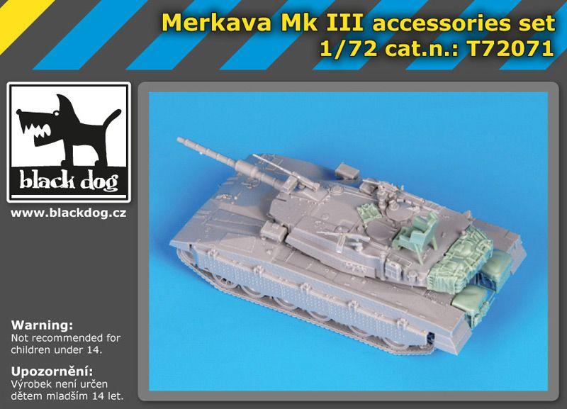 T72071 1/72 Merkava Mk III accessories set Blackdog