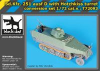 T72093 1/72 Sd.Kfz.251 ausf D with Hotchkiss turret conv.set