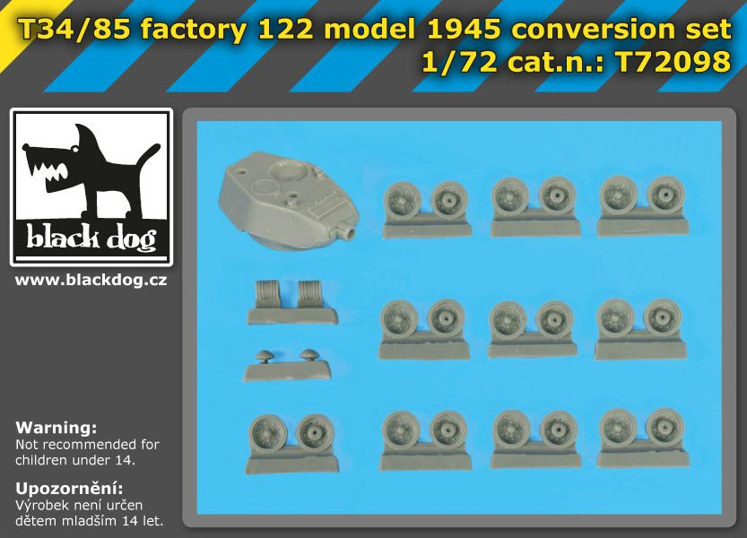 72098 1/72 T 34/85 factory 122 model 1945 conversion set Blackdog