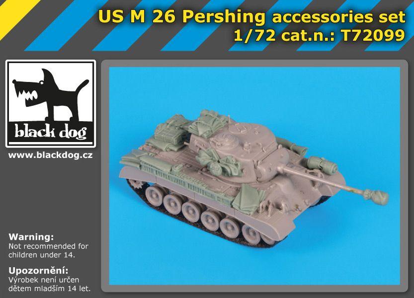 T72099 1/72 US M26 Pershing accessories set Blackdog
