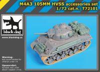 72101 1/72 M4A3 105MM HVSS accessories set