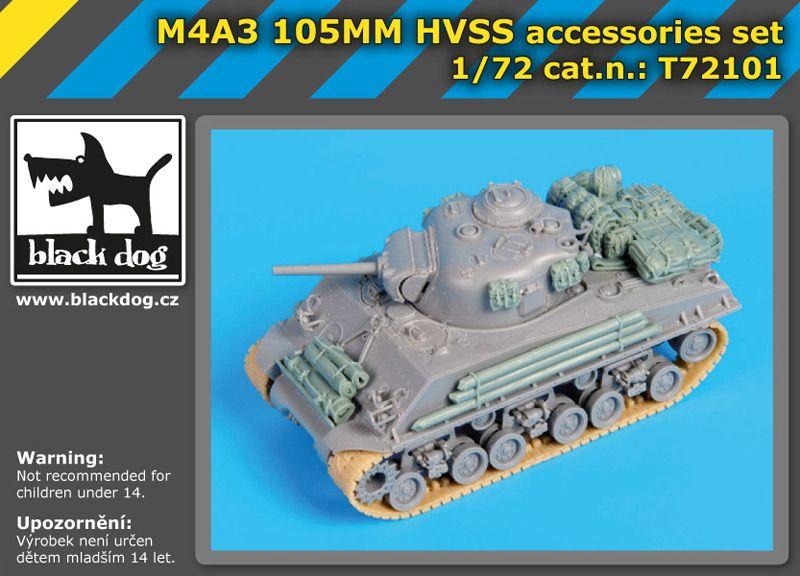 72101 1/72 M4A3 105MM HVSS accessories set Blackdog