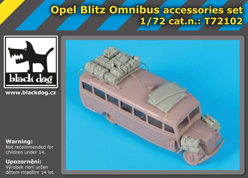T72102 1/72 Opel Blitz Omnibus accessories set Blackdog
