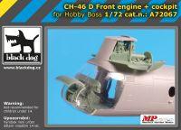 A72067 1/72 Ch-46 D front engine+cocpit