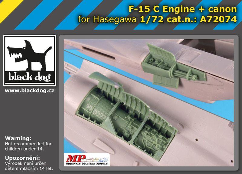 A72074 1/72 F-15 C engine+canon Blackdog