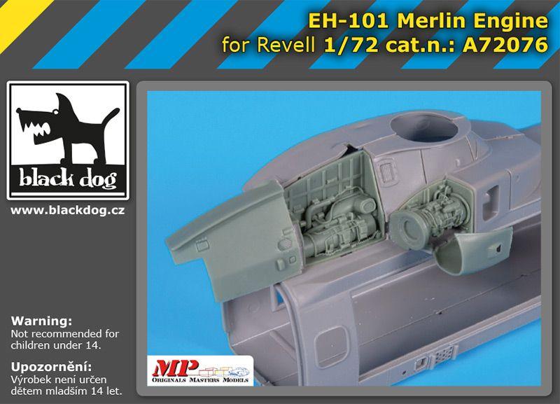 A72076 1/72 EH-101 Merlin engine Blackdog