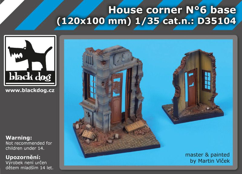 D35104 1/35 House corner N°6 base Blackdog