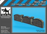 D35107 1/35 Stone wall