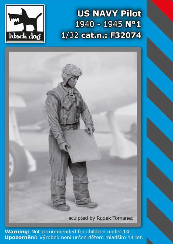 F32074 1/32 US NAVY pilot 1940-45 N°1 Blackdog