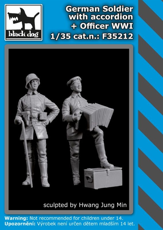 F35212 1/35 German soldier with accordion+officer WW I Blackdog