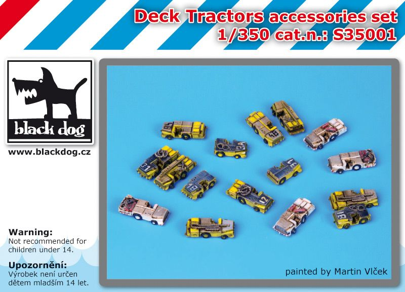 S350001 1/350 Deck tractors accessories set Blackdog