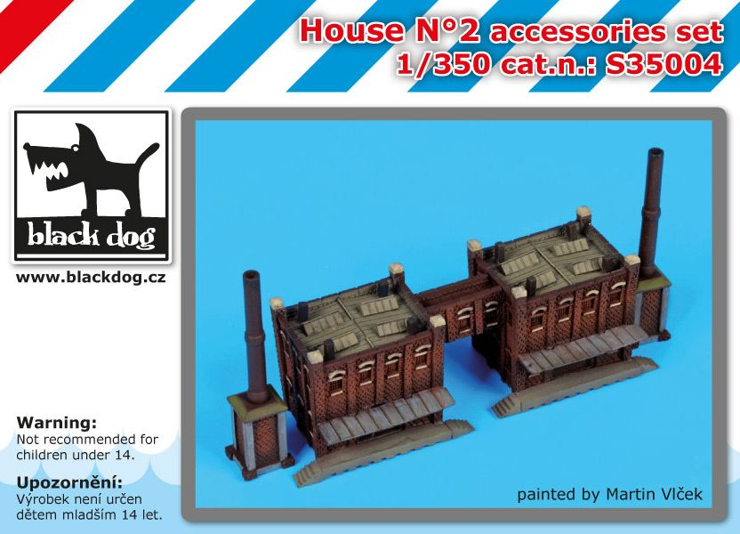 S350004 1/350 House N°2 Blackdog