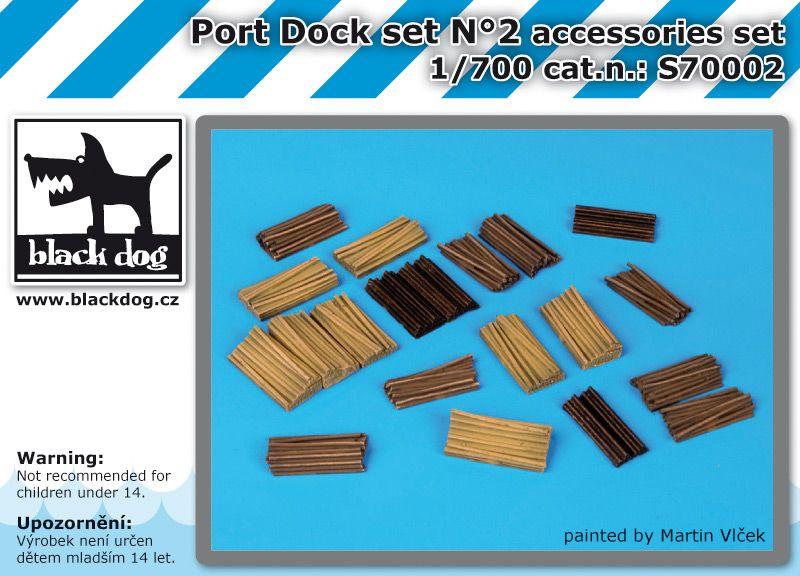 S700002 1/700 Port dock set N°2 Blackdog
