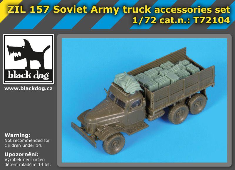 T72104 1/72 Soviet Army truck accessories set Blackdog