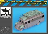 T72105 1/72 Opel 3.6-47 Omnibus stabwagen accessories set