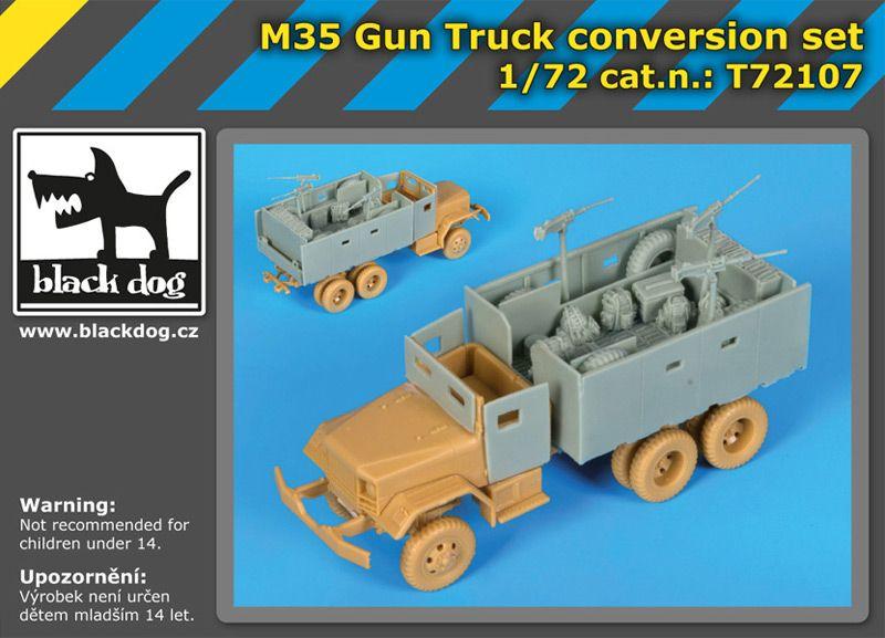 T72107 1/72 M 35 Gun truck conversion set Blackdog