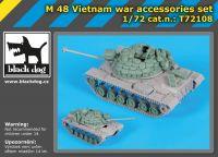 T72108 1/72 M 48 Vietnam war accessories set Blackdog