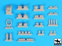T72110 1/72 M1A2 TUSK accessories set Blackdog