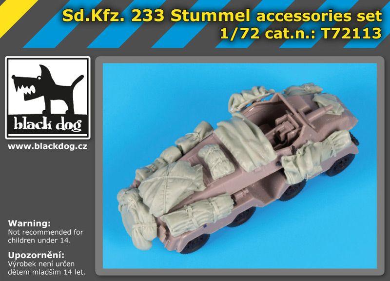T72113 1/72 SD.Kfz 233 Stummel accessories set Blackdog