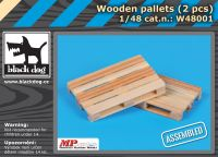 W48001 1/48 Wooden palets 2pcs