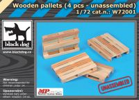 W72001 1/72 Wooden palets 4pcs unassemled